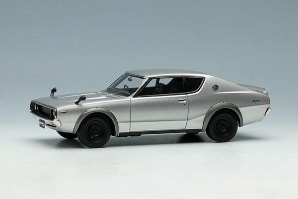 1/43 日産 スカイライン 2000 GT-R (KPGC110) 1973 シルバー[メイクアップ]【送料無料】《06月予約※暫定》