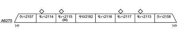 A6275 伊豆急2100系 リゾート21・黒船電車・新ロゴマーク 8両セット[マイクロエース]【送料無料】《09月予約》