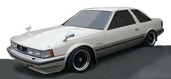 1/43 トヨタ ソアラ 2800GT Limited(Z10) White/Gold(SS-Wheel)[イグニッションモデル]《06月予約※暫定》