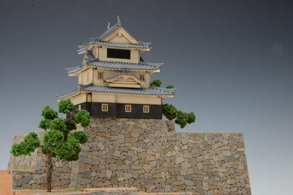木製模型 1/150 丸亀城[ウッディジョー]《取り寄せ※暫定》