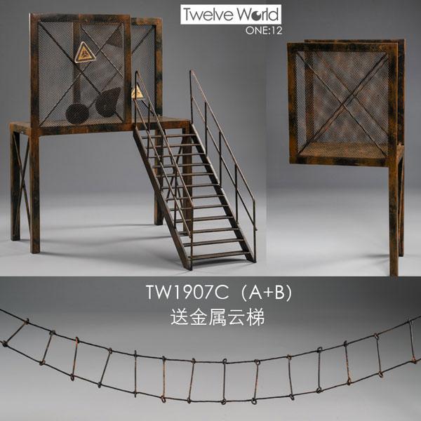 1/12 ディスプレイジオラマ 廃墟鉄骨足場 C (A+B)[Twelve World]《12月仮予約》