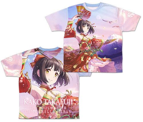 アイドルマスター シンデレラガールズ 福を呼ぶ舞姫 鷹富士茄子 両面フルグラフィックTシャツ/M(再販)[コスパ]《03月予約》
