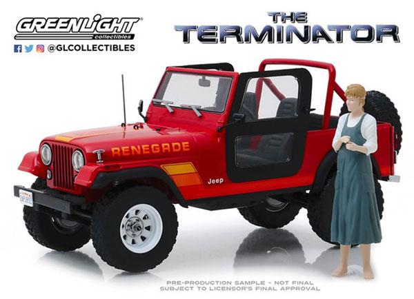 絶妙なデザイン 1/18 The Terminator(1984) Sarah Connor's Connor's 1983 Jeep CJ-7 Jeep with Renegade with Sarah Connor Figure[グリーンライト]《02月仮予約》, JHB:d78f2143 --- zhungdratshang.org