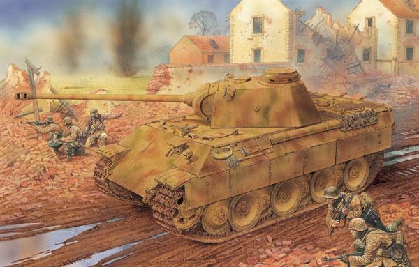 1/35 WW.II ドイツ軍 Sd.Kfz.171 パンターD型 w/ツィメリットコーティング (2 in 1) プラモデル[ドラゴンモデル]《12月予約※暫定》