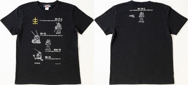 「機動戦士ガンダム」×October Beast 連邦全モビルスーツ Tシャツ(M)[KADOKAWA]《02月予約》