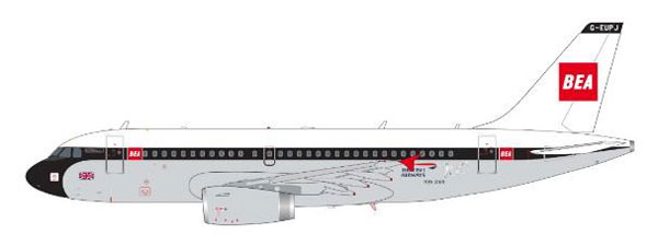 1/200 Gemini200 A319 ブリティッシュ エアウェイズ BEA塗装 G-EUPJ[ジェミニ]《01月仮予約》
