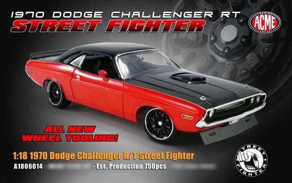 Dodge Challenger RT STREET FIGHTER  Limitiert auf 576 Stück  ACME  1:18  NEU