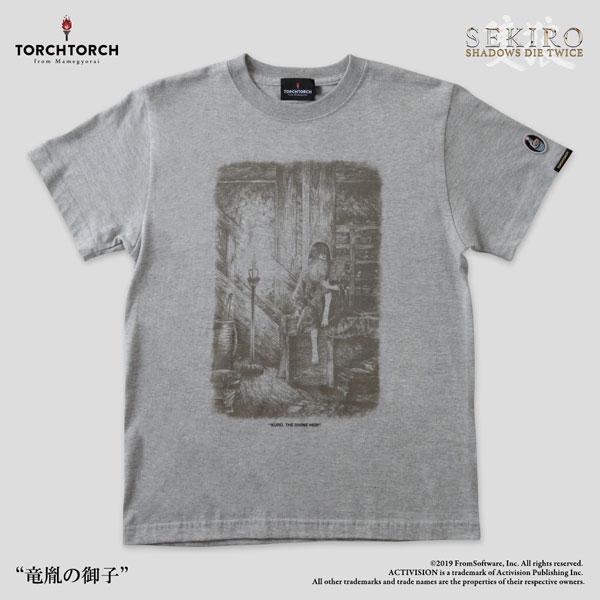 SEKIRO: SHADOWS DIE TWICE × TORCH TORCH/ Tシャツコレクション: 竜胤の御子 杢灰 サイズ XL[TORCH TORCH]《在庫切れ》:あみあみ 店