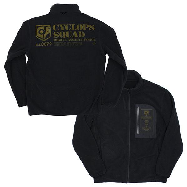 機動戦士ガンダム0080ポケットの中の戦争 サイクロプス隊 2020秋冬新作 入手困難 フリースジャケット コスパ BLACK-XL 《10月予約》