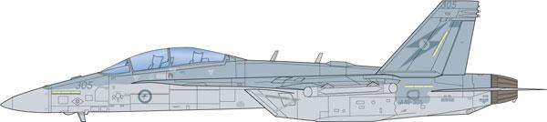 """セットアップ 1 48 オーストラリア空軍 OUTLET SALE 電子戦機 EA-18G グラウラー プラモデル プラッツ 《12月予約》 スコードロン"""" イタレリ """"No.6"""