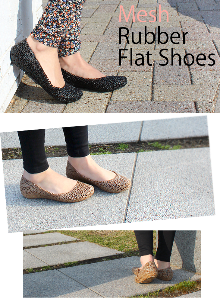 メッシュラバーシューズ and Ballet pumps ladies and resort /MELISSA風 rubber / pumps / flip flops / Black / Brown / celebrity
