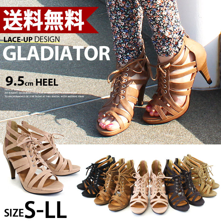 Total sales exceed 1000 feet! Adult lace up design! Strap women's / lace-up Gladiator, evolution of Gladiator Sandals spring high heel sandal black