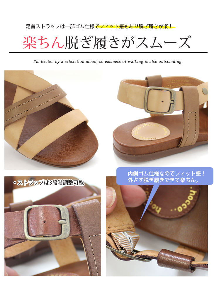 3f64f4d9dabaa8 amiami345  Leather two-tone flat sandal women s flat sole pettanko ...