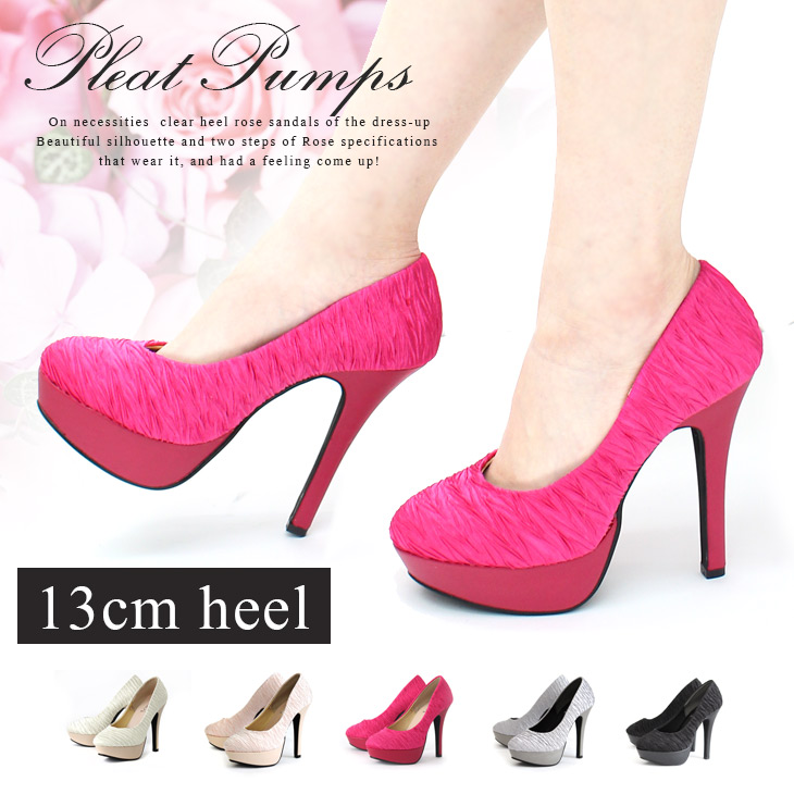 ba67a3e137 Pleats beauty leg high-heeled shoes pumps Lady's high heel high-heeled shoes  thickness ...