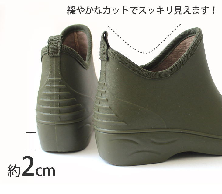 \5, 000 feet topped ★ / カラフルショートレイン boots high quality Japan made 7 deployment boots ☆ short boots / gardening /