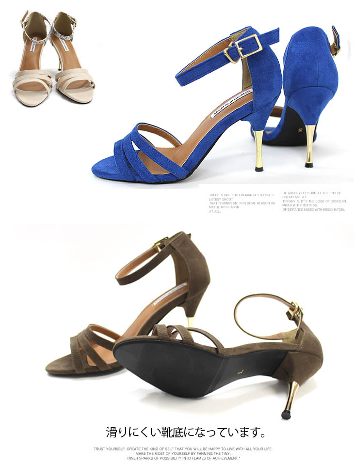 cc62002385b Point metal pin heel beauty leg ankle strap sandals Lady's strap 9cm heels  mousse wedding ceremony party second party by color different fabrics