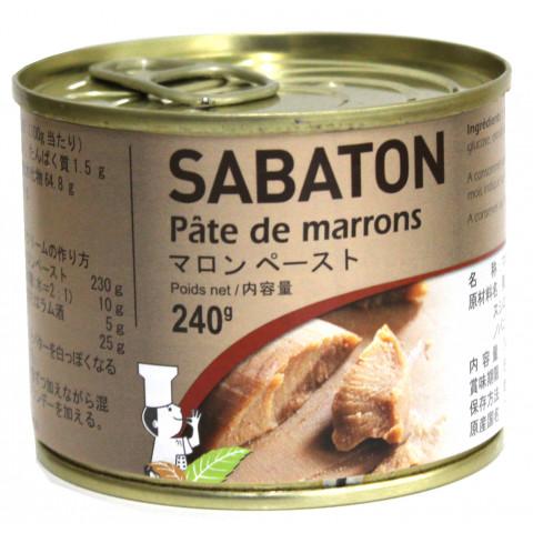 業務用食材 海外並行輸入正規品 常温商品 製菓材料 2020モデル マロンペースト 240g サバトン