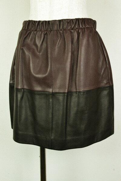 90%OFF 新品 ヴィンス VINCE. 秋冬レザースカートM ISK52 M(L) 新品正規品ヴィンスの羊革素材のレザースカート