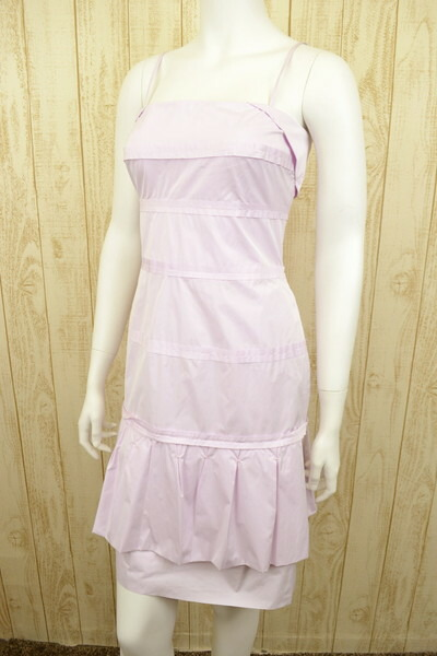 新品 ポールカ PAULE KAデザインワンピースドレス36 LOP491 ポールカ PAULE KA ワンピースドレス 36(S) ティアードシルエットのワンピースドレス ポールカのワンピースドレス ポールカ 新品