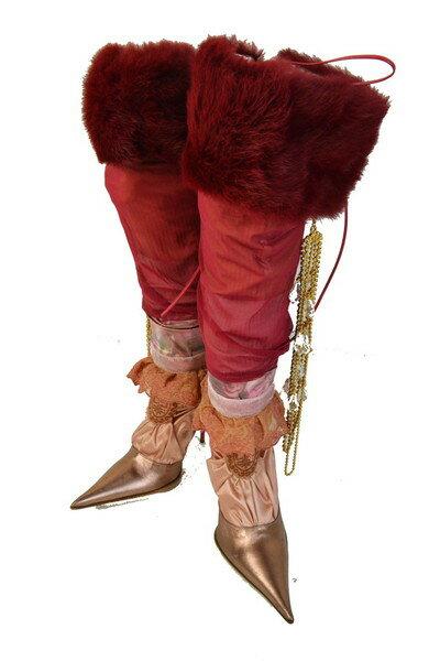 送料無料 90%OFF 新品 レ・トロッポジネス LES TROPEZIENNES ファー付デザインブーツ37 LS227 37(23.5) 新品正規品レ・トロッポジネスのイタリア製デザインブーツ
