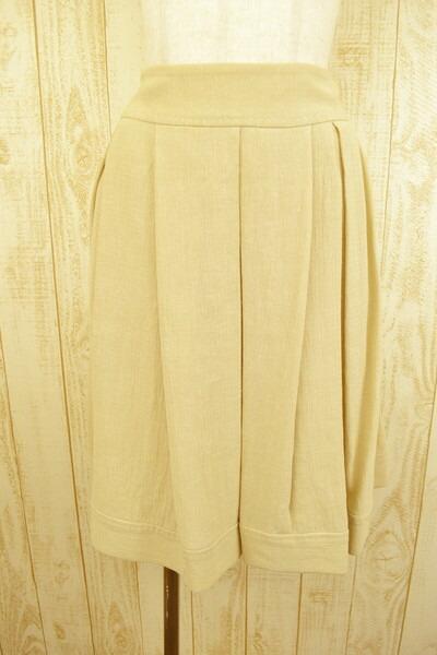 新品 ポールカ PAULE KA 春夏麻100%プリーツスカート38 LSK620 ポールカ PAULE KA スカート 38(M) 麻素材のプリーツスカート ポールカのスカート ポールカ 新品 正規品