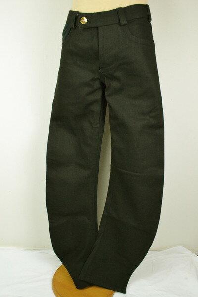 新品 デニスシマチェフ DENIS SIMACHEV コーティングジーンズ メンズ コットン イタリア製 ブラック 46(S) MPT2337