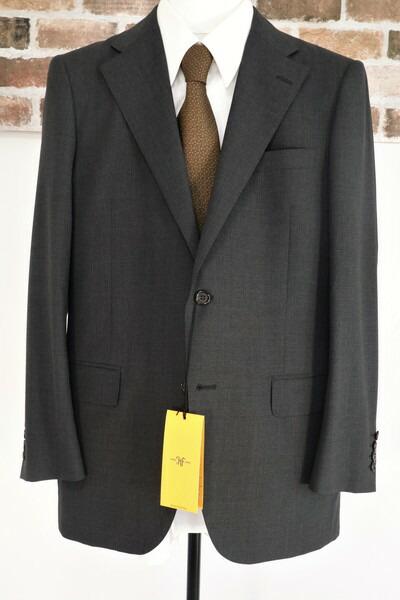 送料無料 65%0FF 新品 ヒッキーフリーマン HICKEY FREEMAN スーツ AB6 MSU561 ダークグレー メンズ 2ボタン サイドベンツ ノータック ウール スモールチェック 日本製 春夏