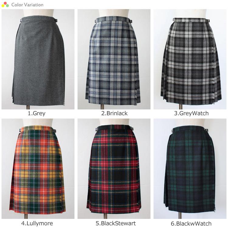 "O'neil of Dublin (O'Neil of Dublin) kilt pleat wrap skirt ""EASY KILT MIDI""STYLE.5056"