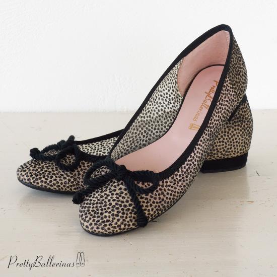 Pretty Ballerinas (プリティバレリーナ) ローヒール メッシュ パンプス グリッター ドット バレエシューズ Rosamund 48.014