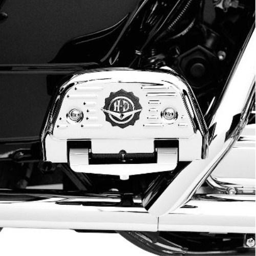50246-00 ロードキングクラシックスタイルパッセンジャーフットボードカバー【ハーレー純正カスタムパーツ】