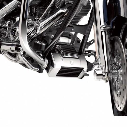 25700007クローム・オイルクーラーカバーキット'09-10ツーリングモデル【ハーレー純正カスタムパーツ】