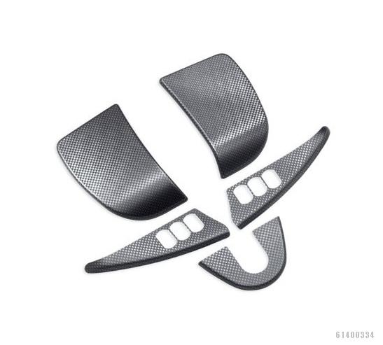 61400334インナーフェアリングトリム5ピーストリムカーボンファイバーデザイン