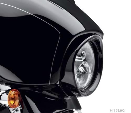61400292ヘッドライトトリムリング7インチ・ヘッドライト用グロスブラック【ハーレー純正カスタムパーツ】