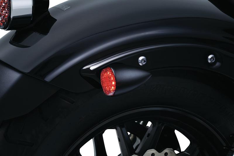 2509kuryakyn クリアキンTORPEDO LIGHT ウインカー&ブレーキ&ポジション カラー:マッドブラック