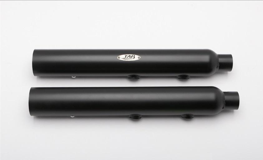 131-2200TAB PERFORMANCETAB パフォーマンスSOFTAIL BLACK STRAIGHT CUT EXHAUST PIPES