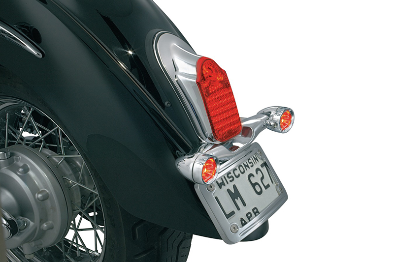 4992kuryakyn クリアキントゥームストーン LED テールライト 汎用12V/ウインカーマウント付
