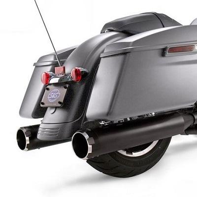 550-0666S&SMk45ブラックボディフィニッシュブラックスラスターエンドキャップ4.5インチスリップオンマフラーミルウォーキーエイト用