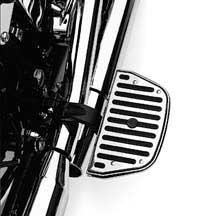 50177-95クローム&ラバー・コレクションフットボードインサート【ハーレー純正カスタムパーツ】