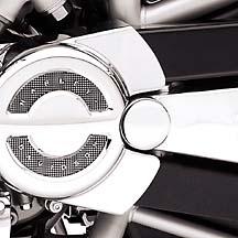 48893-01スイングアームビボットボルトカバーキットクローム