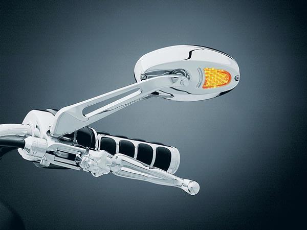 1432kuryakyn クリアキンターンシグナルミラー LED