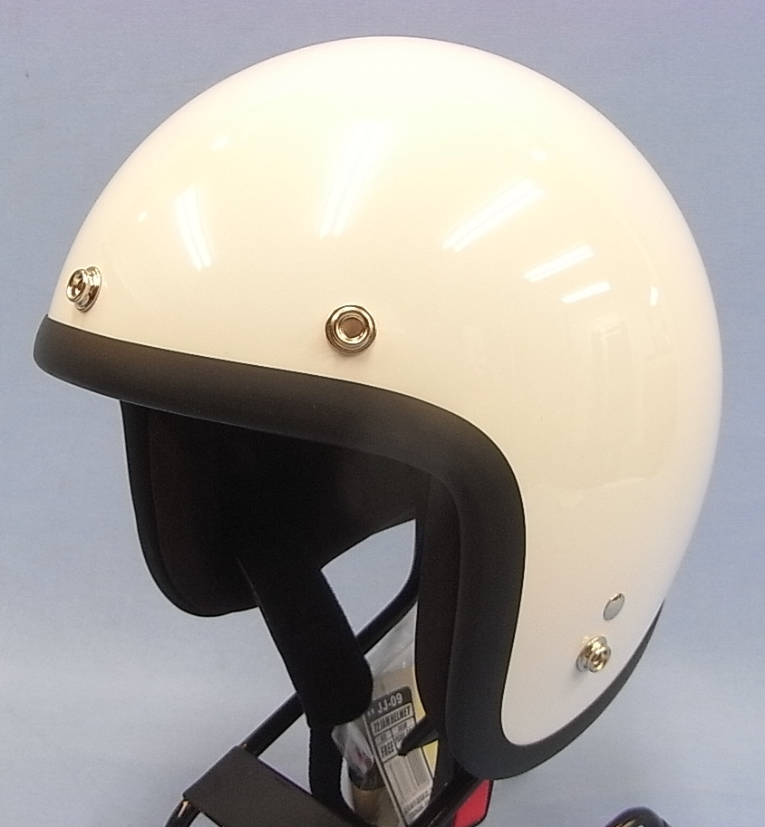 JJ-09☆送料無料!☆ジャムテック 72JAMPEAL GOLD WHITEジェットヘルメット