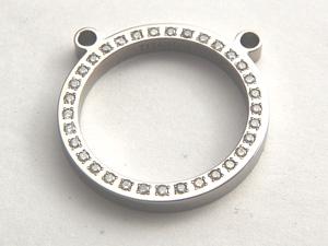 チタン グラスホルダー(天然ダイヤ33箇所付き)[Y0003-WDA]
