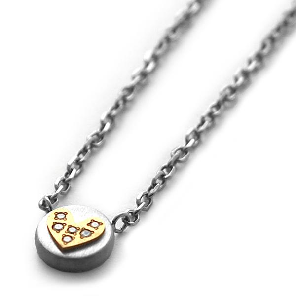 ハート チタンプチネックレス 6石ダイヤモンド [N0022-WDAGO&C0029]