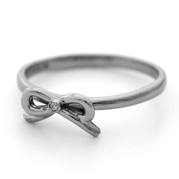 リボンモチーフチタンリング Ribbon 天然ダイヤモンド [R0264-WDA]