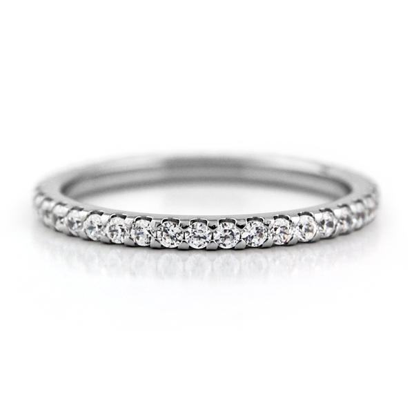 チタンフルエタニティリング 1.6mm幅 天然ダイヤモンド 合計約0.38ct~ [R0296-WDA]