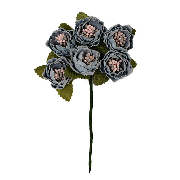 プリザーブドフラワー 花材 格安激安 花時計 花 造花 プレゼント スモーキーグリーン ラウンドフラワー ギフト フェアリーピック 6個 緑 ファクトリーアウトレット