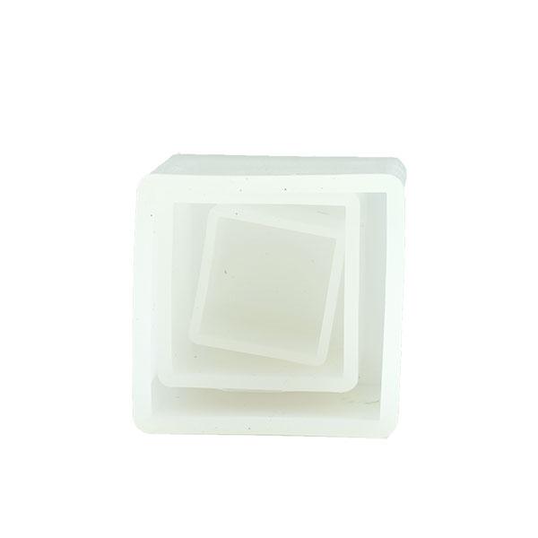 新型ハーバリウム 固まるハーバリウム 2液型レジン「シリコン型正方形3コセット(鏡面加工)」エポキシ樹脂 新型ハーバリウム クリスタルアートリウム インアリウム 石膏 アロマストーン アロマワックス