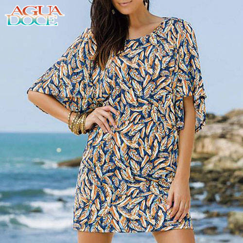 AGUA DOCE アグアドーセ ブラジリアン ドレス 水着 フェザー柄 ad-12230