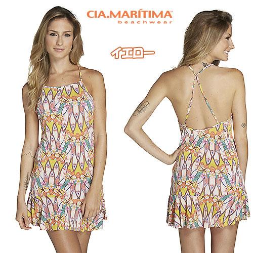 CIA.MARITIMA カンパーニャ マリッチマ ブラジル インポート水着 ビーチウエア サーフボード柄ドレス ワンピース フリル cm-1726