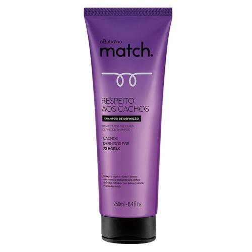 湿気によるボリュームを抑えてくれるシャンプーです O 永遠の定番モデル Boticario マッチ シャンプー カール Match Respeito CACHOS de 250ml BT202379 aos 超激得SALE Definicao Shampoo